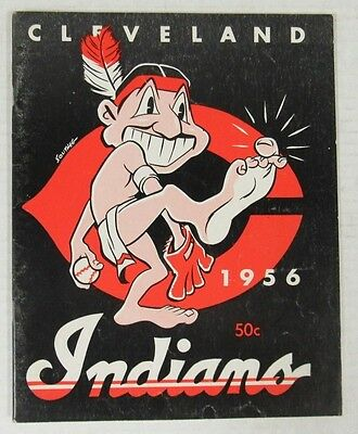 1956 Cleveland Indians Baseball Yearbook F846