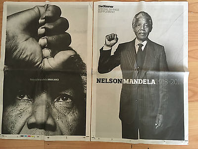 New Guardian and Observer Newspaper 2 Nelson Mandela Supplements