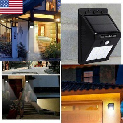 20 LED Solar Power PIR Motion Sensor Wall Light Waterproof Lamp Outdoor Garden