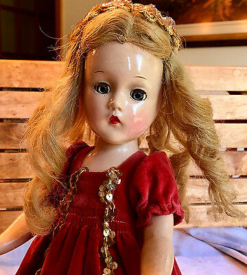 c.1939 SLEEPING BEAUTY Tagged Wendy Pre-WWII Composition Doll - Madame Alexander