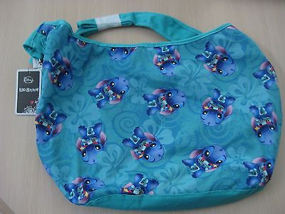 Disney Stitch and Scrump Print Turquoise Color Hobo Bag Purse Tote Brand New