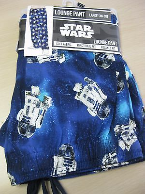 Disney Star Wars R2D2 Lounge Pant Super Soft Drawstring Pajama Large