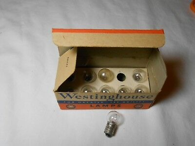 Standard Ga. O Ho Train Vintage Westinghouse Miniature Base 18V Lamp Bulbs Nib!