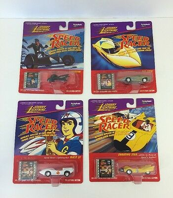 Lot of 4 Speed Racer Collectors Edition Cars Mach 5 Assassins GRX Shooting Star