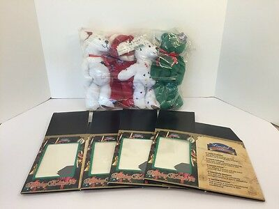 RARE Set of 4 Limited Treasures '98 Holiday Test Issue Bear Claus '98 Bears NEW