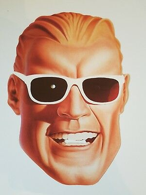Vintage Coke Max Headroom Paper Mask 1980's 1986 Halloween