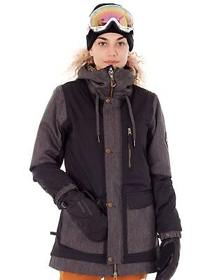 686 Damen Snowboardjacke Phoenix Insulated Schwarz Denim