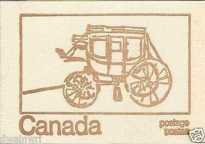 Canada 1971 Centennial Booklet UNI #BK69f - Cover: Mail Stage Coach, 1820