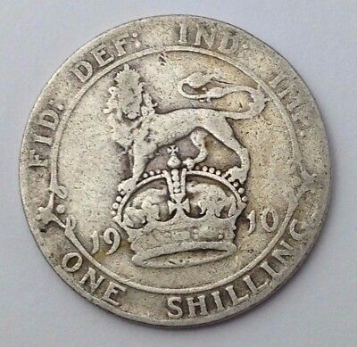 Dated : 1910 - Silver Coin - One Shilling - King Edward VII - Great Britain