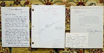 """JANE ALEXANDER'S COPY of """"TESTAMENT"""" SCREENPLAY SIGNED & INSCRIBED + 3 LETTERS"""