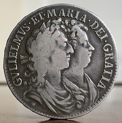 William And Mary, Halfcrown, 1689.