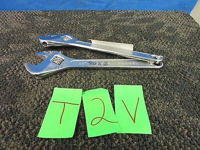 "2 Wright Adjustable Wrench 10"" Tool Usa Military Surplus Used"