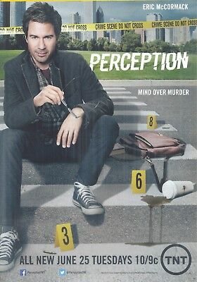 "TV's ""Perception"",  Eric McCormack in a 2013 Magazine Ad. ""Mind Over Murder"""