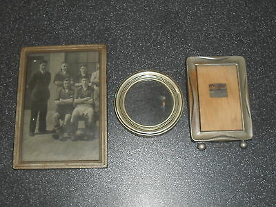 Old Metal Picture Frames with Footballers