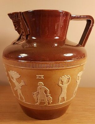 Royal Doulton EGYPTIAN Pattern Large Stoneware Jug / Pitcher