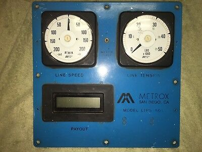 METROX LTPS 501 Front Panel & CROMPTON Gauges 073-05 078-05 Line Speed & Tension