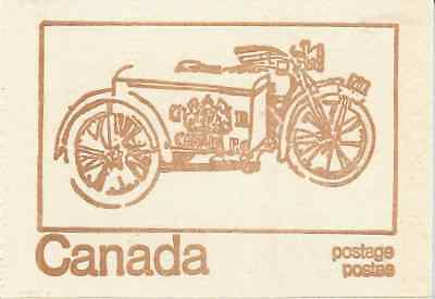 Canada 1971 Centennial Booklet UNI #BK69f - Cover: Motorcycle, 1923