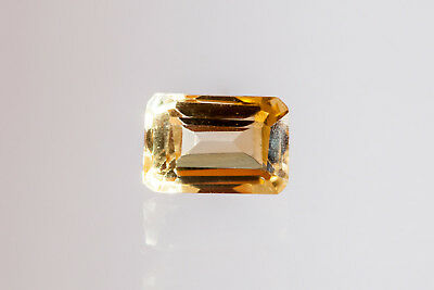 c11/ facettierter CITRIN octagon imperial gelb ca.6x4x2,9 mm 0,50 ct = 0,1 g