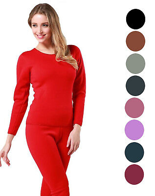 Women's Ultra-Soft Micro-Fleece Lined Thermal Base Layer Top & Legging Set