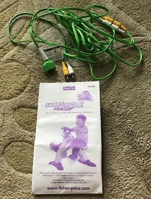 Fisher Price Smart Cycle 12 Ft. REPLACEMENT A/V 2 Green CORD Cable And MANUAL
