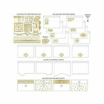WE R Memory Keepers Fuse Gold Foil Paper Crafting Kit 42 Pcs
