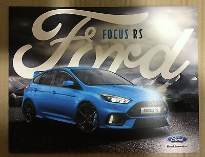 Ford Focus RS 2017  Alemania folleto brochure