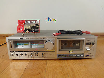 JVC KD-A33C Stereo Cassette Tape Deck 1980 Japan TESTED 100% Works Great! RARE!
