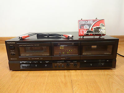 Technics RS-TR157 Stereo Dual Cassette Tape Deck Recorder 1988 Japan TESTED 100%