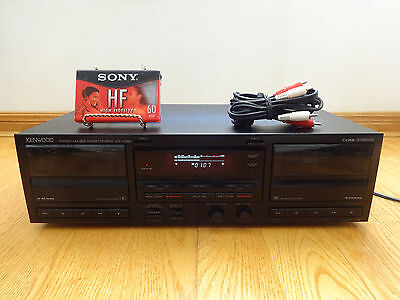 Kenwood KX-W892 Stereo Dual Cassette Deck 1994 Japan TESTED 100% Works Great!