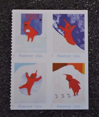 2017USA Forever - The Snowy Day - Block of 4 From Booklet  Mint NH  holiday