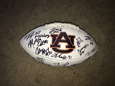 2017-2018 Auburn Tigers Team Signed Football Stidham Pettway Malzahn