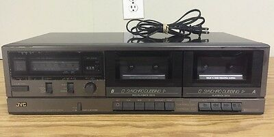 JVC TD-W107 Stereo Double Cassette Deck AS IS