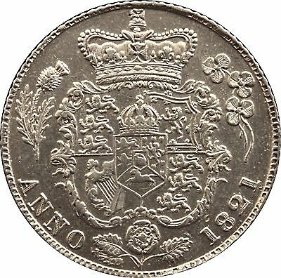 1821 King George IV Sixpence silver coin
