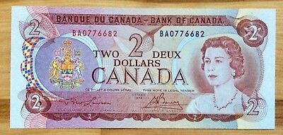 1974 Bank of Canada $2 Two Dollar Banknotes UNC- No Tax