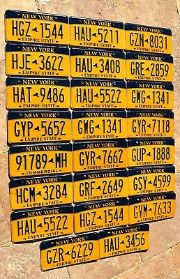 "20 NEW YORK "" EMPIRE STATE GOLD "" NY Bulk Lot Set Mixed Graphic License Plate"