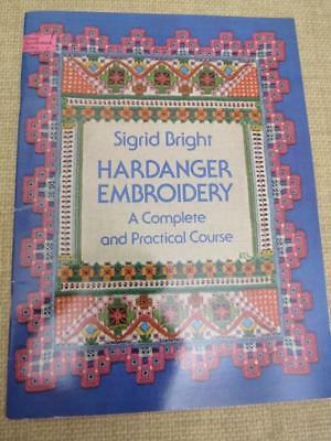 Vintage HARDANGER EMBROIDERY How To Practical Course SIGRID BRIGHT Book Patterns