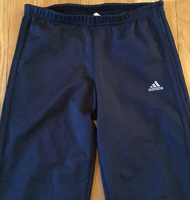 Adidas Black Elastic Waist Workout Sport Pants Size Small Climalite Clima365