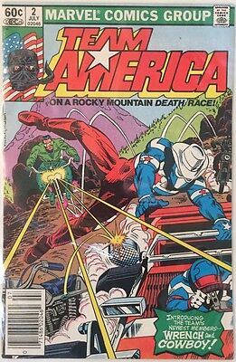 Team America #2 (Marvel Comics, 1982) Mint Condition - Wrench And Cowboy