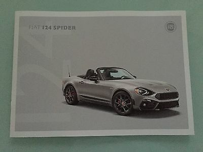 2017 Fiat 124 Spider 24 Page Sales Brochure - Classica, Lusso, Abarth