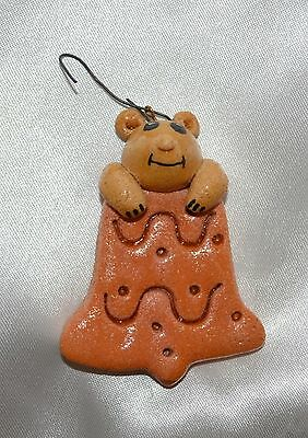 Handmade Mouse on Cookie Christmas Ornament