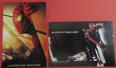 Postcard Lot of 2 : SPIDERMAN (2002) : Promotional - Pre 9/11 - Twin Towers Eyes
