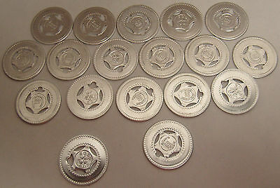 Lot of 26 Blank Good Luck Tokens Horse Shoe 4 LEAF CLOVER