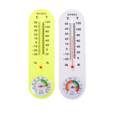 Household Thermometer Hygrometer Indoor Wall Hanging Weather Tester QF