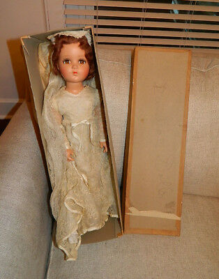"Large 21"" 1940's Arranbee R&B ""DEBUTEEN"" Composition Bride Doll w Original Box"