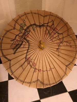 Vintage Chinese Japanese rice paper umbrella