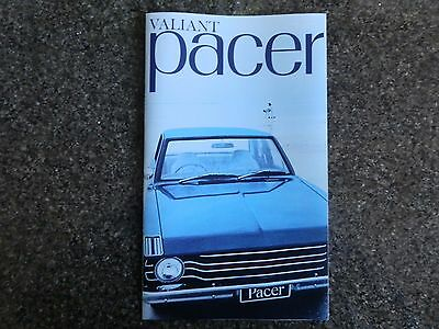 Chrysler Valiant 1969 Vf Pacer Brochure Plus Colour Chart  100% Guarantee.