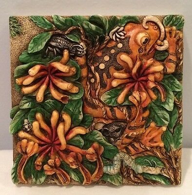 NIB Harmony Kingdom Picturesque A Frog's Life Tile PXGE3 Byron's Secret Garden