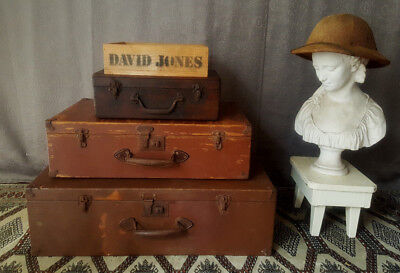Vintage Suitcases / Ports, Timber, + Box, Storage, Country / Industrial Chic.