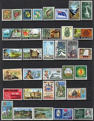 New Zealand - 1967-1975 - 130 mint stamps