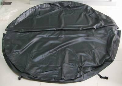 Round hot tub pool cover skin leather only with Straps securing cover